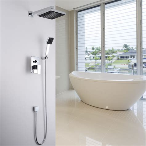 Bathroom Shower Heads And Faucets Aliexpress Buy Concealed Shower Set In Wall Shower Faucet 8 Inch 20 Cm Square Rainfall