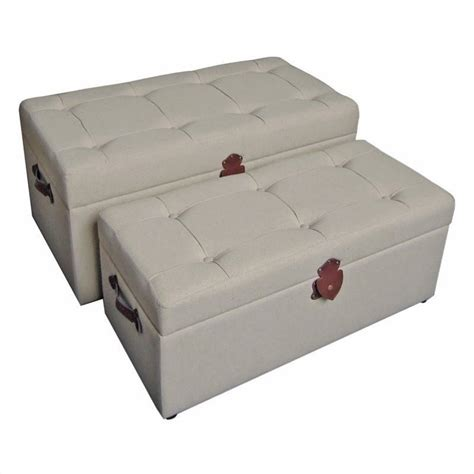 cloth storage bench set of 2 tufted fabric storage bench 47b 12a15
