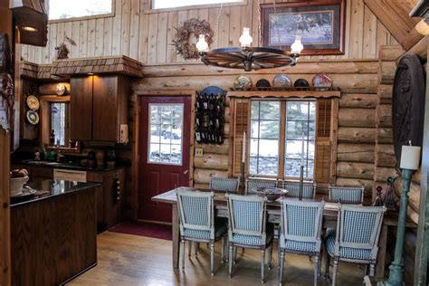 log cabin dining room log cabin pinterest log cabin living lake view cabin and woodsy retreat log