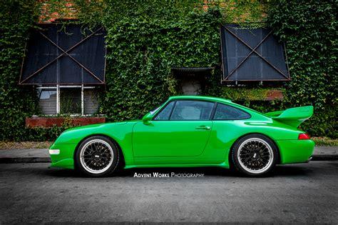 porsche viper green viper green 1996 porsche 993 rs tribute car cars