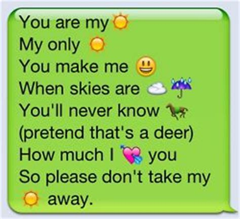 emoji you would send to a crush love song lyrics in emoji texts samantha amy we need