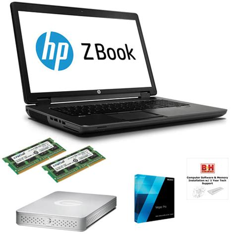 Hp Sony Pro b h photo portable workstation with hp zbook 17 3 quot laptop