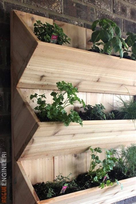 cedar wall planter  diy plans gardens planters