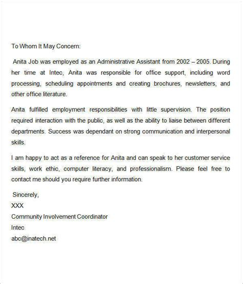 letter of recommendation for employment sle recommendation letters for employment 12
