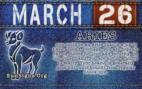 march 26 birthday horoscope personality sun signs