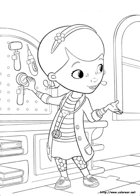 free coloring pages of doktor mcstuffins