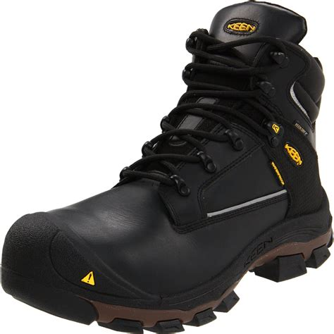 keen work boots for keen keen mens portland pr mid work boot in black for