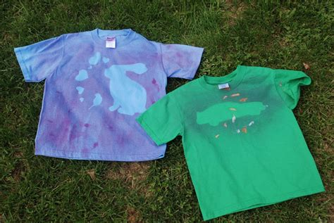 spray painting on clothes 10 summer shirt painting ideas