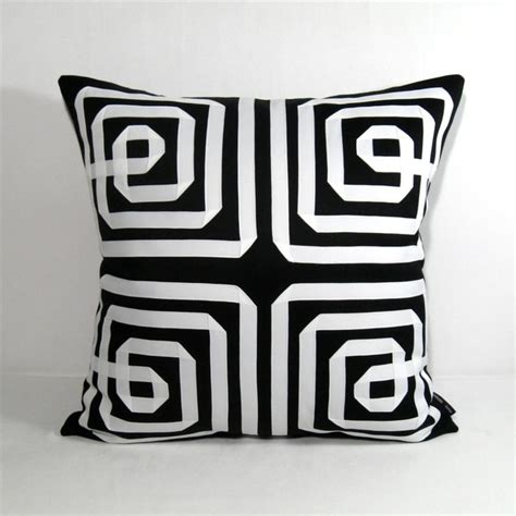 black and white cusions black white greek key outdoor decor cushion 20 inch