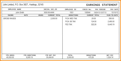 9 Free Editable Pay Stub Template Secure Paystub Pay Stub Template