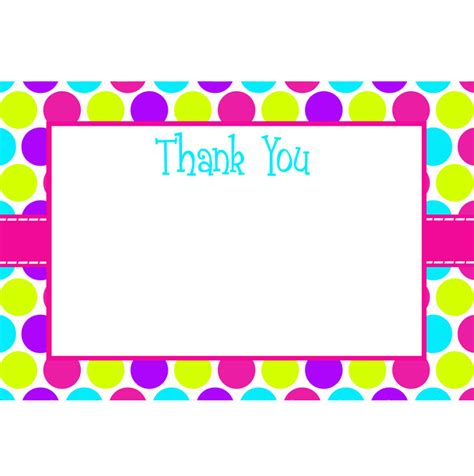 thank you card size template sweet shop printable collection