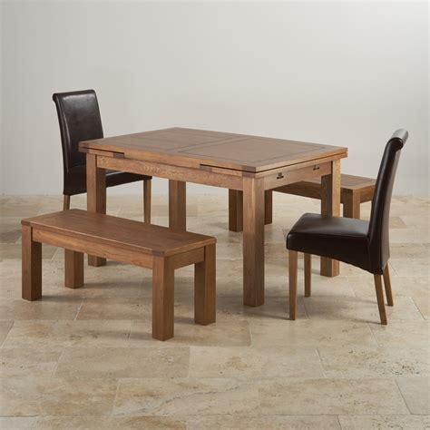 rustic oak dining bench rustic oak dining set extending table 2 benches and 2