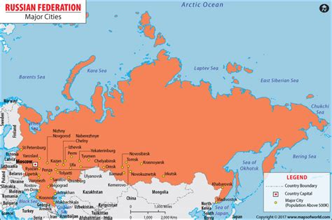 russia map showing cities cities in russia russian cities map