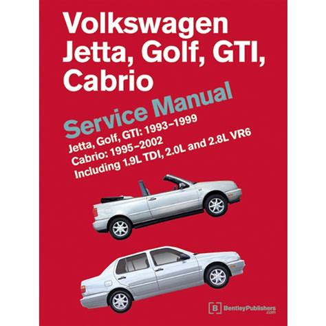 old car owners manuals 2004 volkswagen jetta engine control volkswagen golf jetta gti cabrio mk3 1993 1999 service manual vg99 by bentley publishers