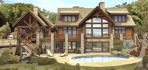 log home floor plans with basement cottage house plans