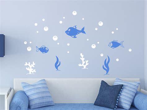 Kinderzimmer Gestalten Fische zweifarbiges wandtattoo fische wandtattoo de