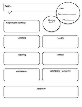 world language lesson plan template by creative language