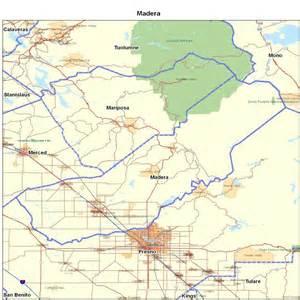 map of madera california cities in madera county california