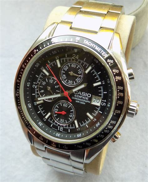 casio edifice wr  chronograph mens wristwatch