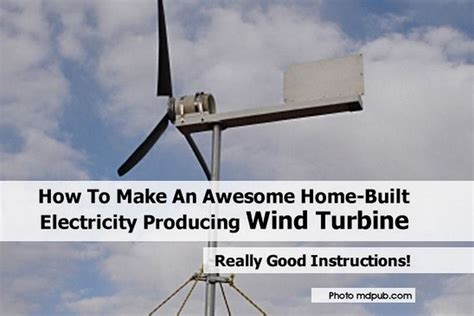 how to make an awesome home built electricity producing