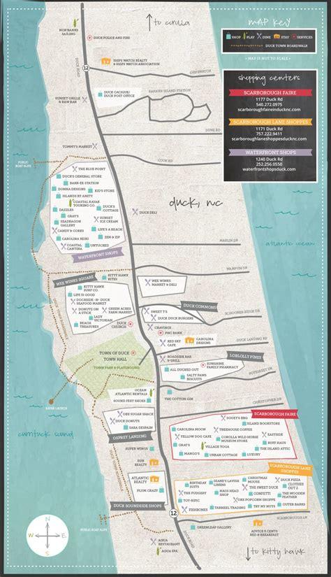 map of carolina duck maps town of duck carolina