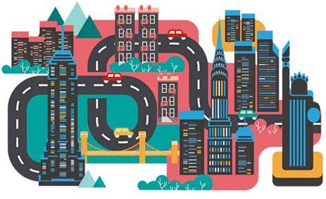 graphics design nyc editorial city illustrations by jing zhang