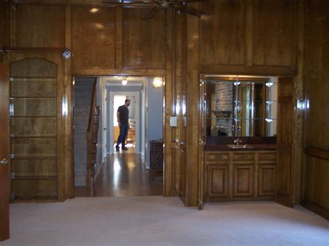 how to update wood paneling without painting any salvage value to these real wood panels fit in