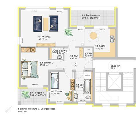 wohnung 3 zimmer grundriss 3 zimmer wohnung im 3 obergeschoss w6 klia wohnpark
