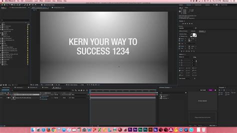 typography tutorial in after effects after effects tutorial fix typography kerning youtube