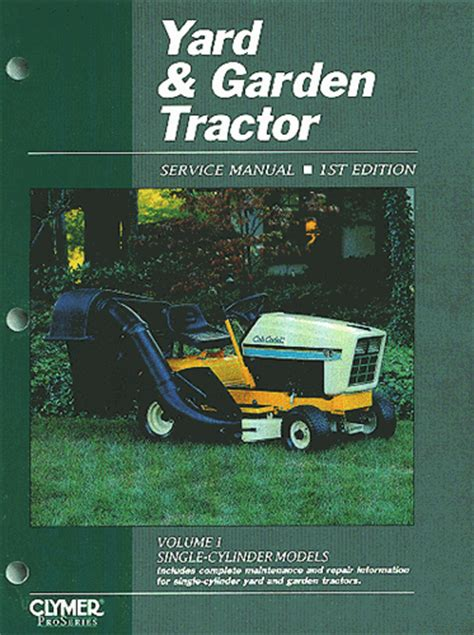 Garden Tractor And Lawn Mower Repair Manual For Single