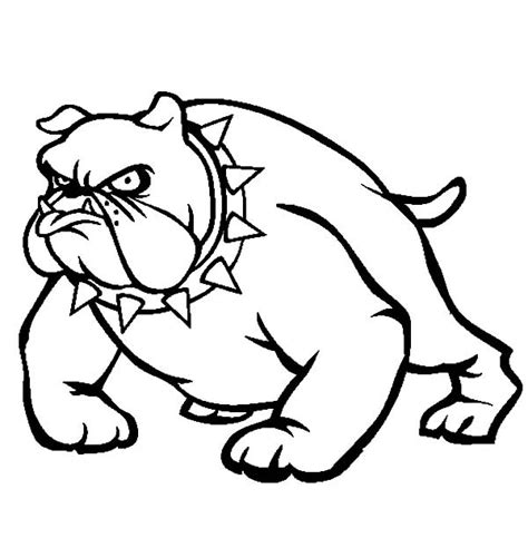 Bulldog Face Coloring Pages Bulldog Coloring Pages
