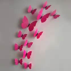 3d Butterfly Stickers For Walls 3d diy butterfly wall sticker butterfly home decor room