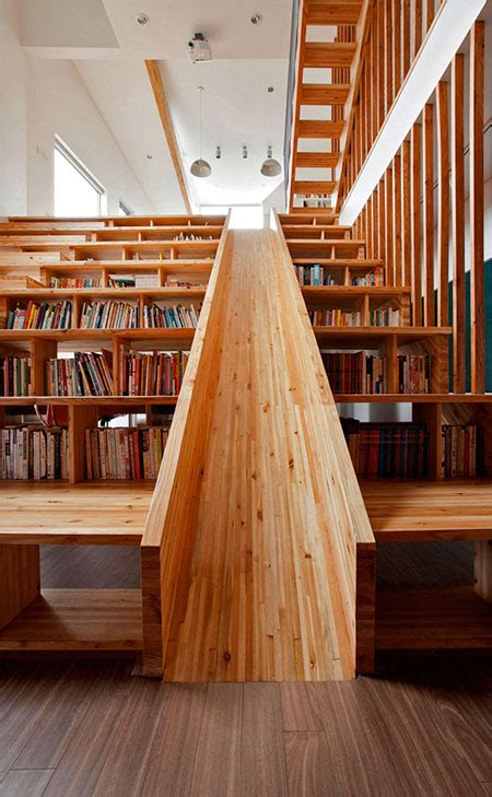 library staircase library staircase with a slide