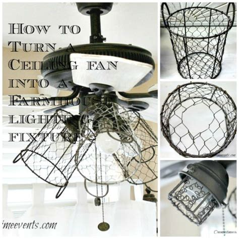 How To Change Light Fixture On Ceiling Fan by Ceiling Fan Into Farmhouse Style Lighting