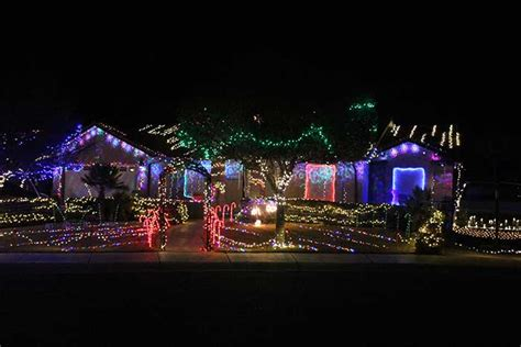 local christmas lights cheer up a blustery night