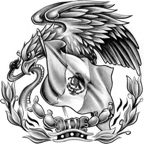 mexican eagle tattoo stencil www pixshark com images