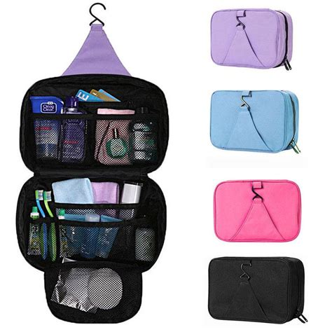Travel Check Travel Waterproof Toiletries Bag Organizer 8cmm waterproof hanging travel toiletry bag wash makeup storage organizer pouch ebay