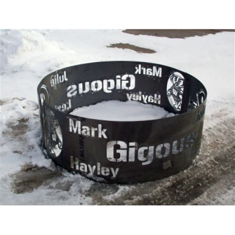 personalized pit custom pit ring 38 quot design 2