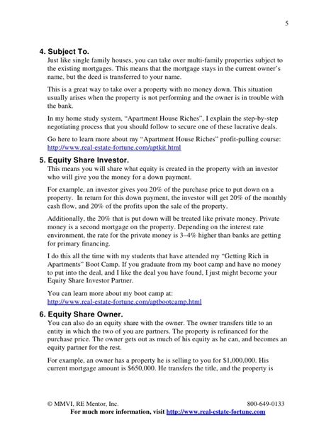 Agreement Letter Buying House 27 Ways To Buy Multi Family Properties With No Money By Dave Lin