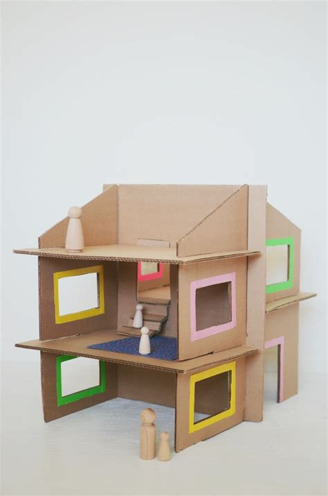 best 25 cardboard dollhouse ideas on recycle