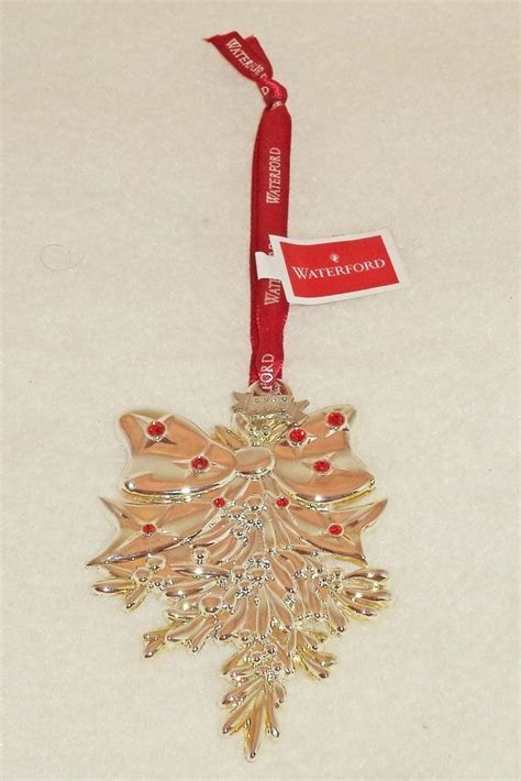 2013 mistletoe christmas ornament from waterford 159772