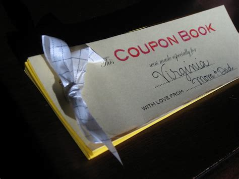 how to make a coupon favor book to give to the kids