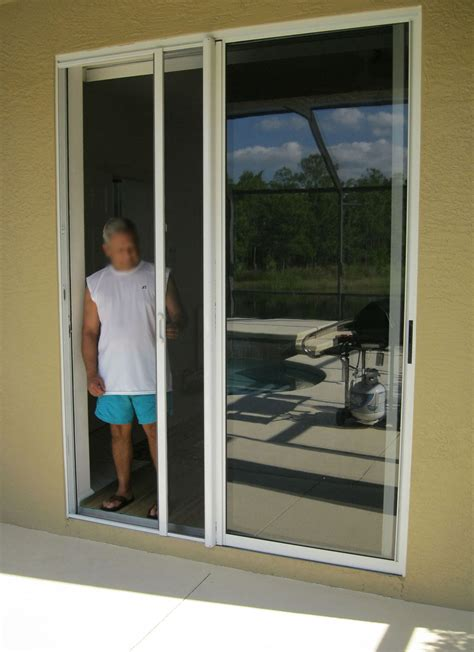 Patio Door Screens Retractable Modern Patio Outdoor Sliding Glass Screen Door