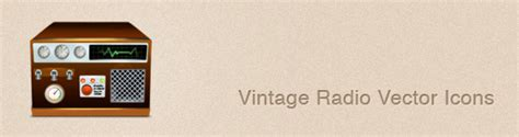vector radio tutorial free download vintage radio vector icons jayce o yesta