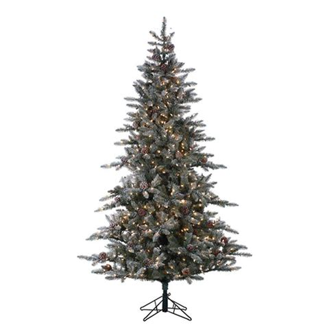 lightly flocked trees sterling 7 5 ft pre lit lightly flocked mckinley pine