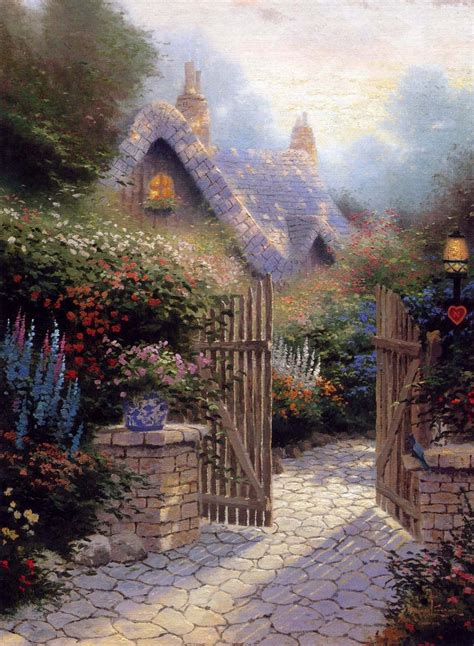 The Hidden Cottage Ii Thomas Kinkade Posters Kinkade Cottages