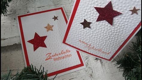 Weihnachtskarten Selber Basteln Anleitung by Sternen Weihnachtskarte Selber Basteln Diy Cardmaking
