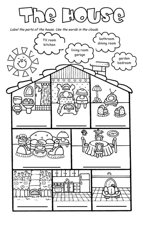 home design worksheet house worksheets the house song and worksheet house
