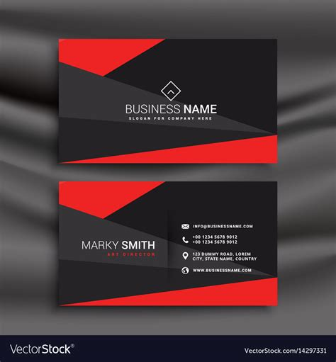 business card templates for freelancers black and business card template with vector image