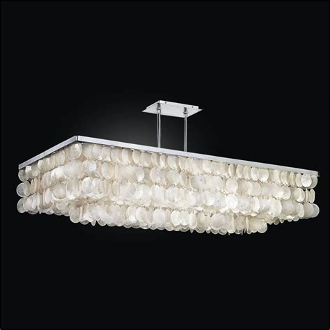 rectangular capiz chandelier bay 634 glow 174 lighting